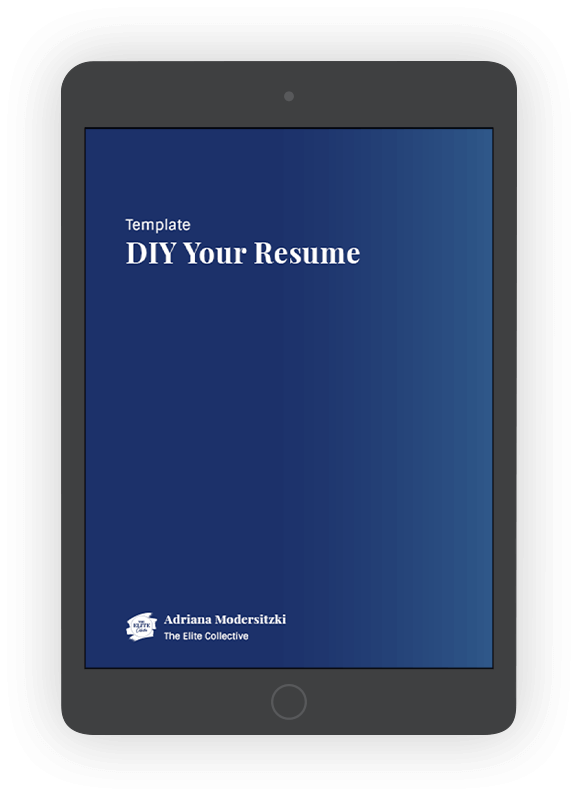 Resume Template Product Image
